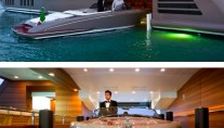 JAde yacht by CRN - Floating garage